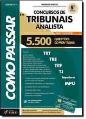 COMO PASSAR EM CONCURSOS DE TRIBUNAIS ANALISTA